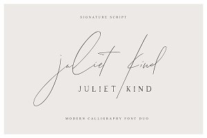 Juliet Kind Font DUO