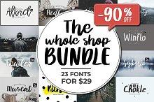 SALE! 90% OFF - Big Font Bundle