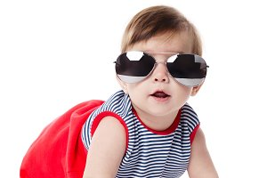 cute baby with sunglasses