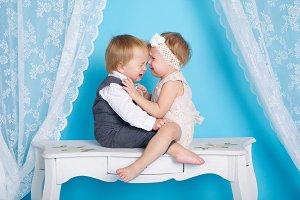 crying boy and girl