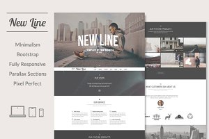 New Line | Minimalism WordPress