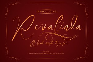 Revalinda  brush font