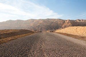 Driving in Negev desert