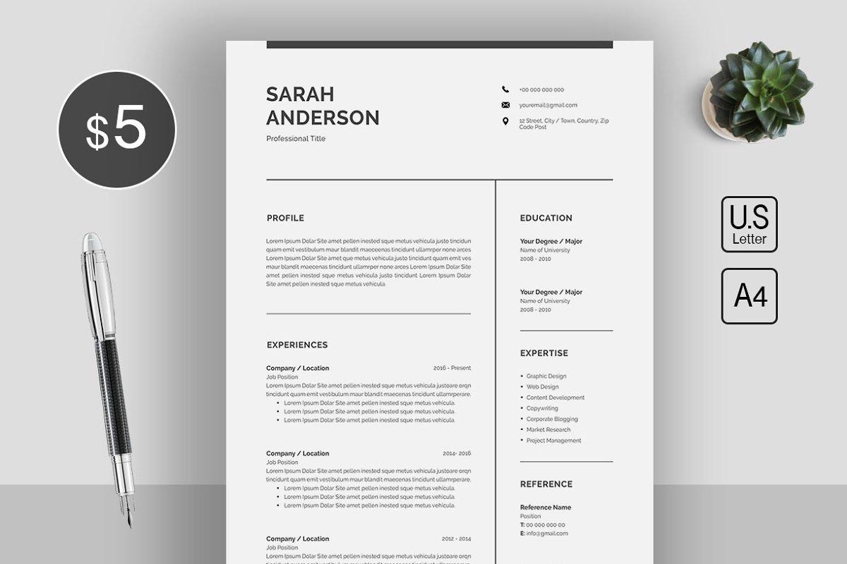 Word Resume/CV ~ Resume Templates ~ Creative Market