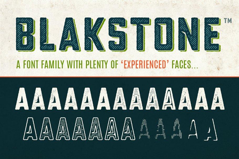 Blakstone Font Family - 50% OFF