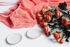 Tangerine Rose Styled Stock 084