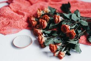 Tangerine Rose Styled Stock 086