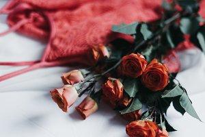 Tangerine Rose Styled Stock 98