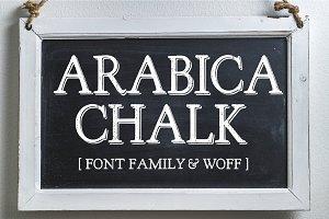 Arabica Chalk Serif Chalk Font