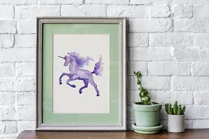 Unicorn Masterpiece Watercolor png