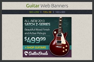 Guitar Web Banners