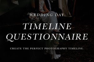 Wedding Timeline Question Form