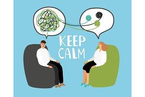 Keep calm, psychiatrist listening