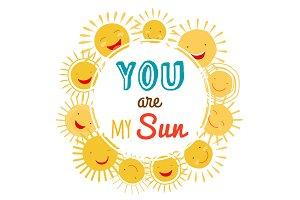 You are my sun printable vector