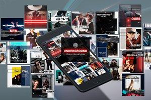 Underground Instagram posts