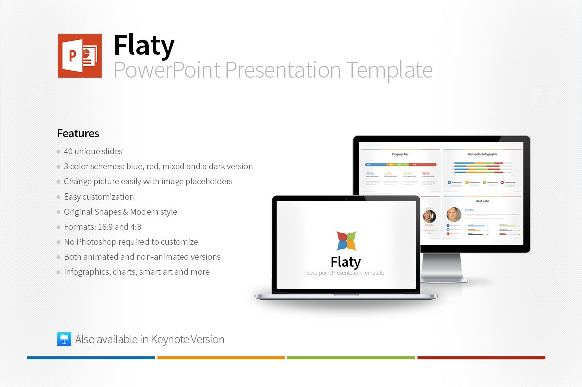 Flaty PowerPoint Template ~ Presentation Templates ~ Creative Market