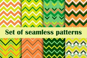 Zigzag set of seamless pattern