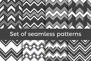 Zig zag set of seamless pattern