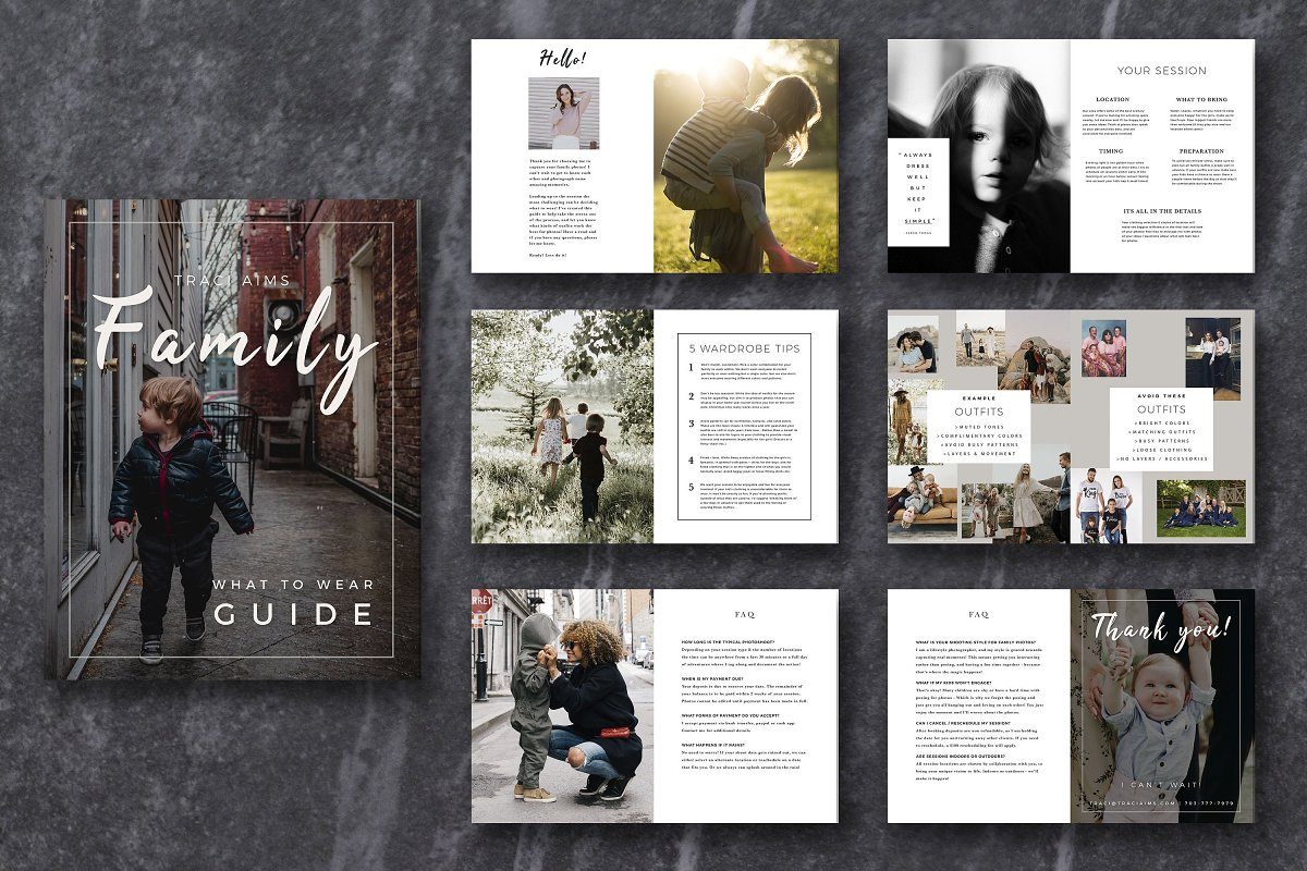 Family Photographer Style Guide PSD