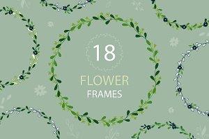 18 floral frames