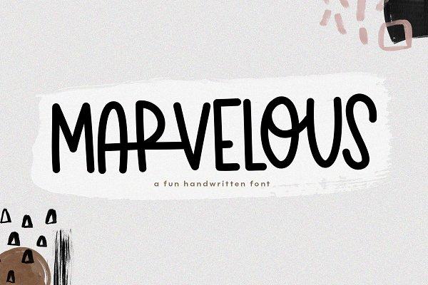 Marvelous - A Handwritten Font