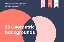 20 TREND GEOMETRIC BACKGROUNDS by  in Patterns