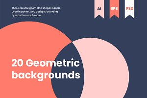 20 TREND GEOMETRIC BACKGROUNDS