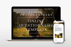 Family Photography Online Form