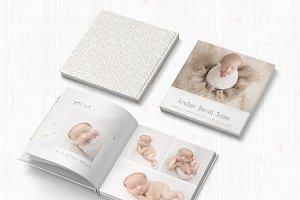 Photo Book Template - Baby Boy Album