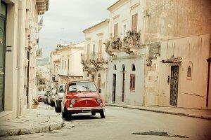 Old Fiat 500, vintage