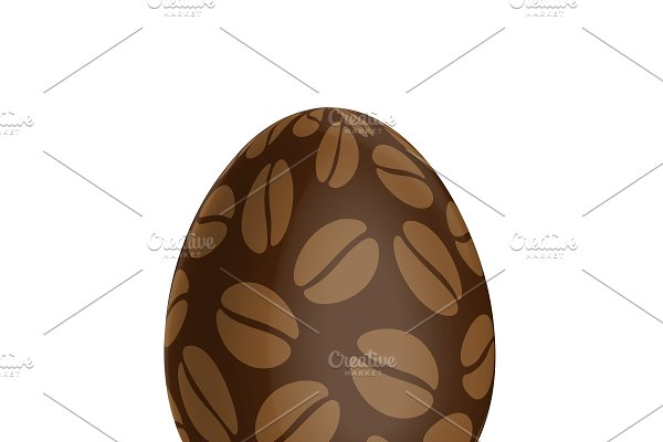 Easter egg with a coffee beans