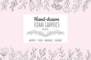 Hand drawn Floral Graphics
