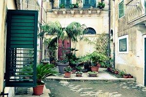 Courtyard in Sicily, Ragusa