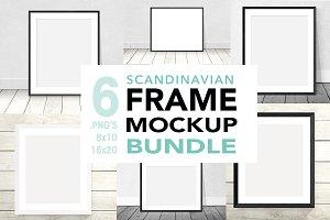 frame mockup bundle minimalist
