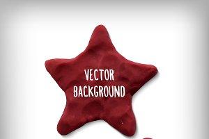Vector banner - plasticine star