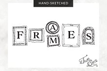 Hand-Sketched Vector Frames / Icons