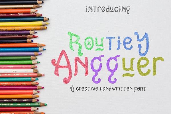 Routiey Angguer - Handwritten Font
