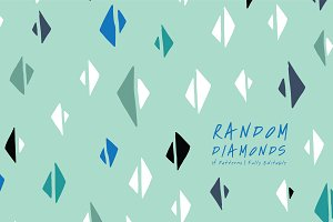 Random Diamonds | Seamless Patterns