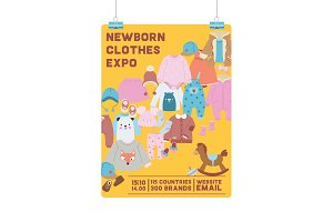 Baby shop vector shopping sale of