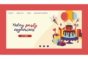 Birthday party vector anniversary