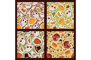Thanksgiving food seamless pattern