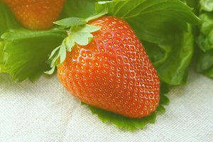Natural beauty of strawberries