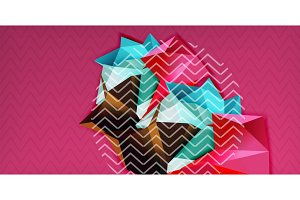 Color geometric abstract background