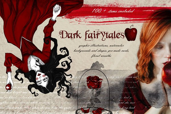 Graphics: Scarlet Heath Art - Dark fairytales