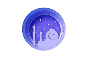 Ramadan Kareem, Eid Mubarak Greeting