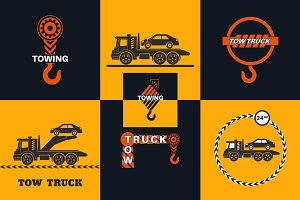 Set of tow truck concepts