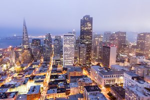 Fog Rolling In Over San Francisco