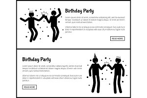 Birthday Party Poster Dancing Men