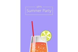Lets Summer Party Poster with