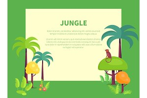 Jungle Banner with Place for Text